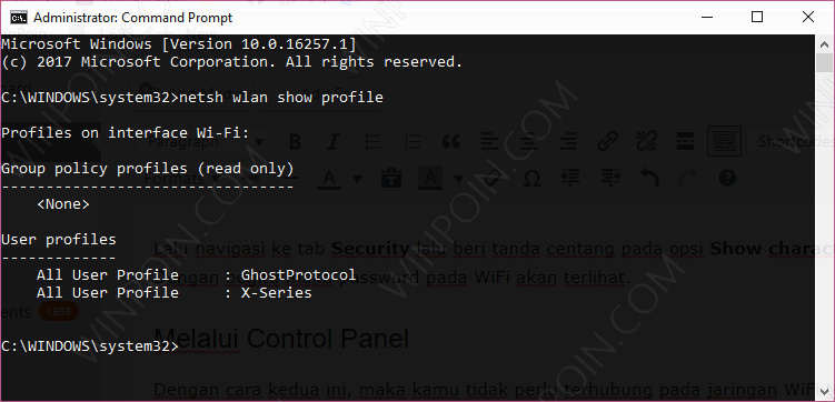 2 Cara Melihat Password WiFi di Windows 10 (6)