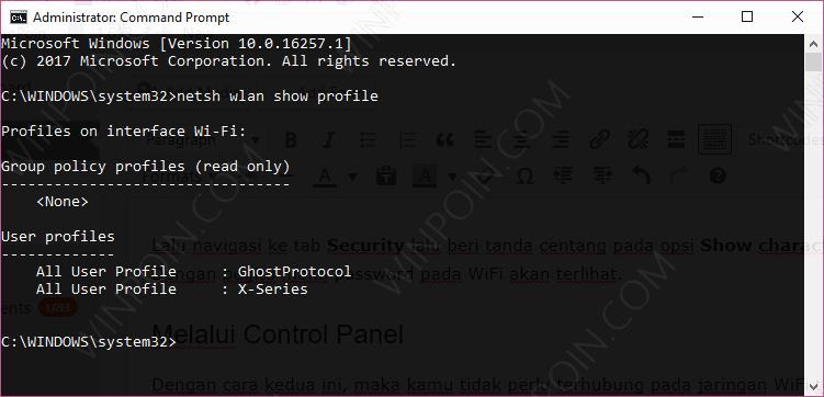 2 Cara Melihat Password Wifi Di Windows 10 Winpoin