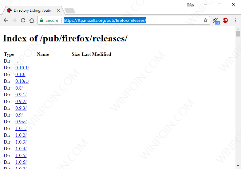 Cara Download Semua Versi Browser Mozilla Firefox (4)