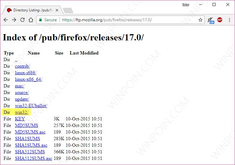 Cara Download Semua Versi Browser Mozilla Firefox (5)