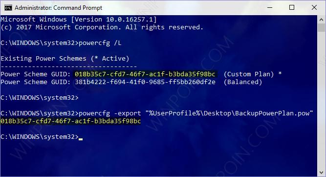 Cara Export Power Plan di Windows 10 (2)