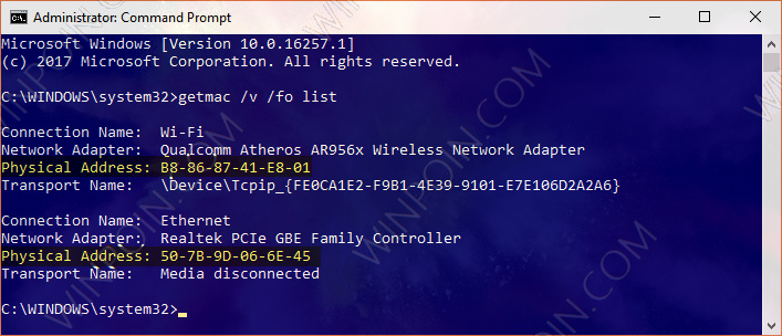 Cara Melihat MAC Address di Windows 10 (1)