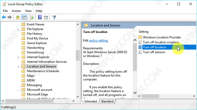 Cara Mematikan Location di Windows 10 (6)