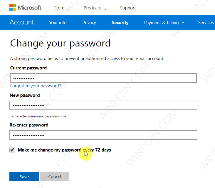 Cara Memberikan Password Expiration pada Microsoft Account (2)