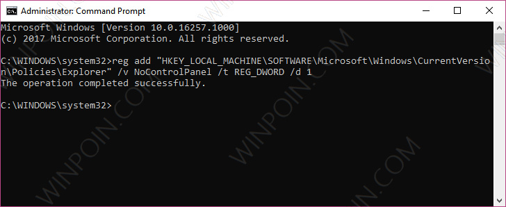 Cara Memblokir Akses ke Settings dan Control Panel di Windows 10 (5)
