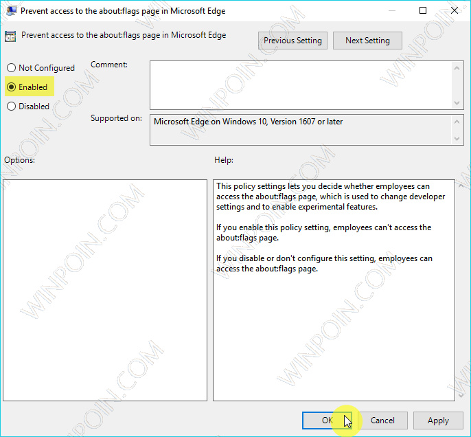 Cara Memblokir Akses ke aboutflags Microsoft Edge (4)