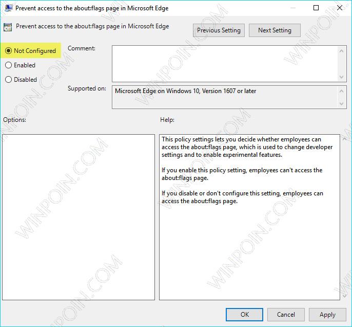 Cara Memblokir Akses ke aboutflags Microsoft Edge (6)
