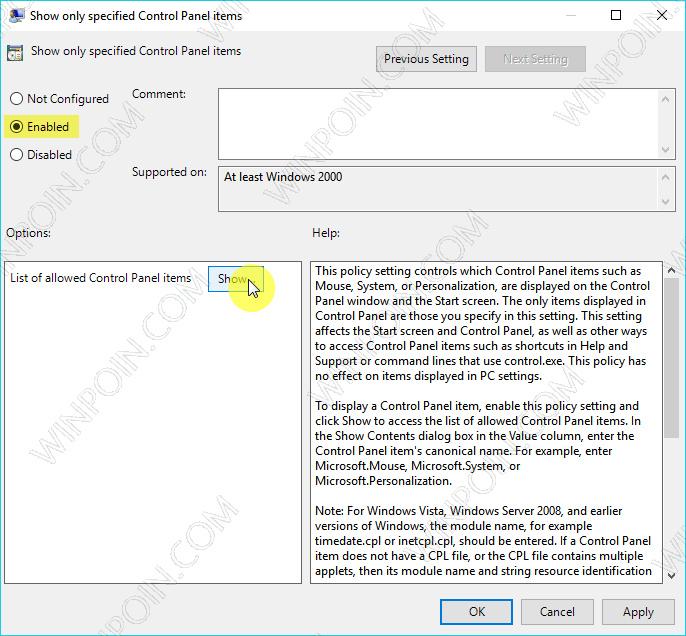 Cara Menampilkan Pengaturan Tertentu di Control Panel (4)