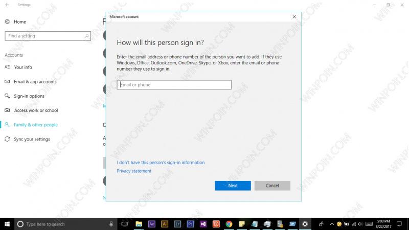 Cara Mencegah Menambahkan akun Microsoft di Windows 10 (4)