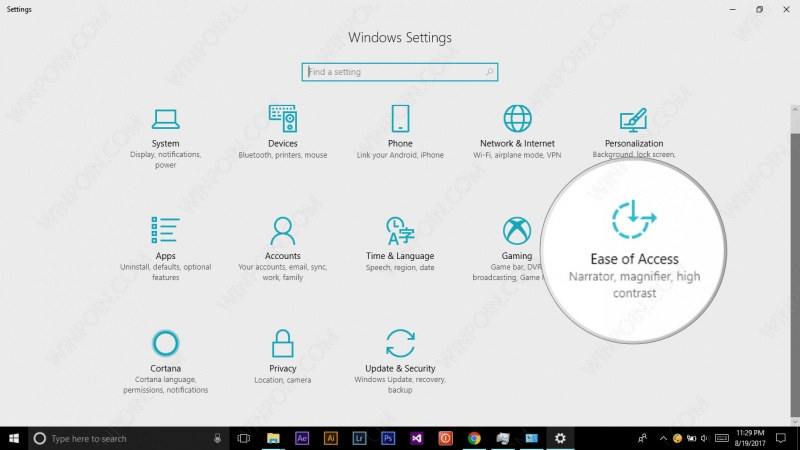 Cara Mengaktifkan Color Filter di Windows 10 (2)