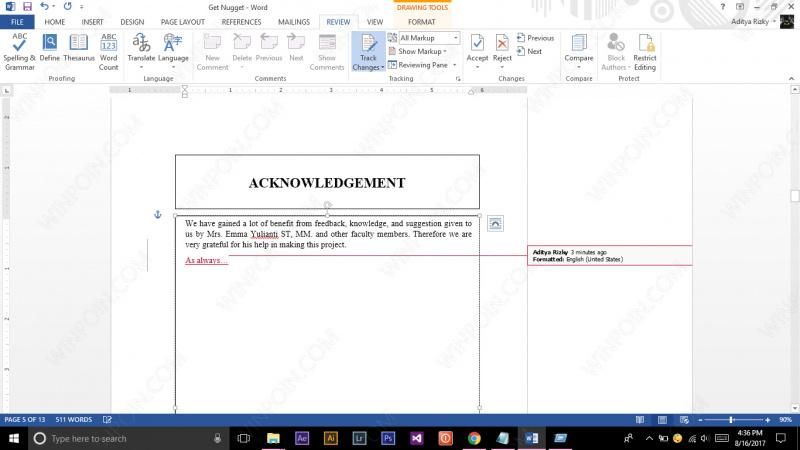 Cara Mengetahui Perubahan pada File Word (4)