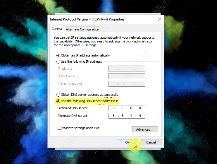 Cara Mengganti Alamat DNS Server di Windows 10 (4)