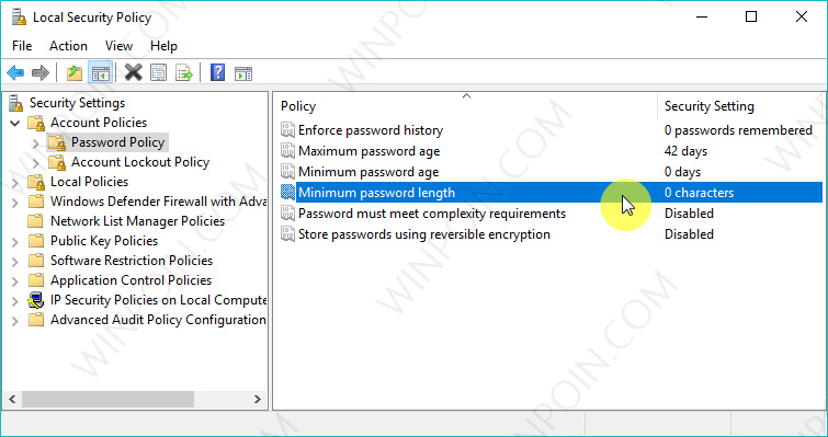 Cara Mengganti Panjang Minimum Password User di Windows 10 (3)