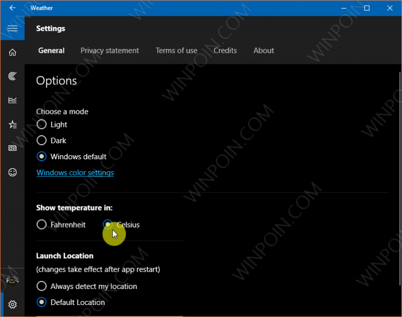 Cara Mengganti Satuan Suhu Pada Aplikasi Weather Windows 10 (4)