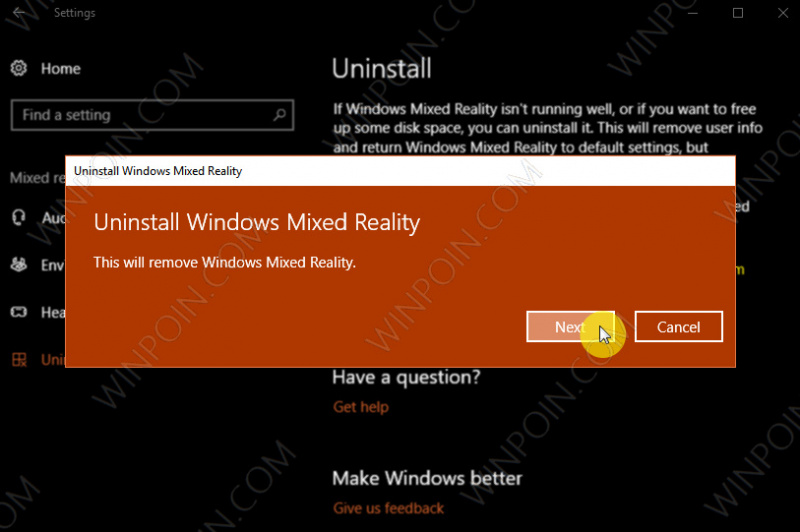 Cara Menghapus Mixed Reality Portal di Windows 10 (4)