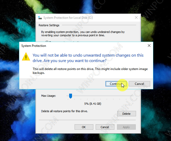 Cara Menghapus System Restore Point di Windows 10 (4)