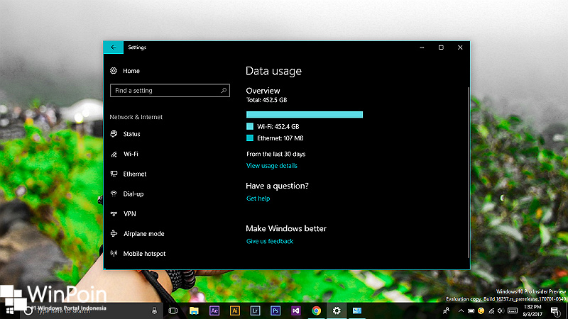 Cara Reset Data Usage di Windows 10 (1)