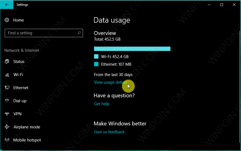 Cara Reset Data Usage di Windows 10 (2)