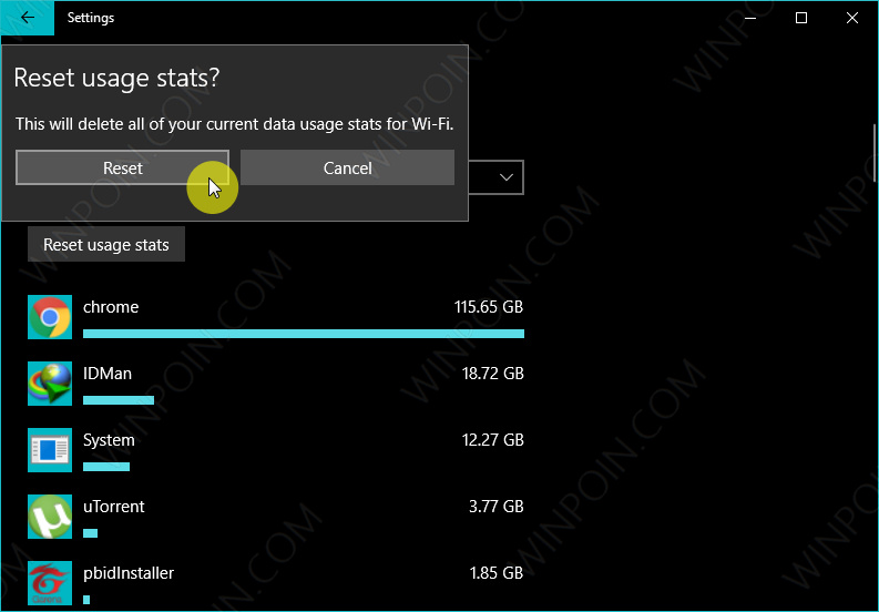 Cara Reset Data Usage di Windows 10 (4)