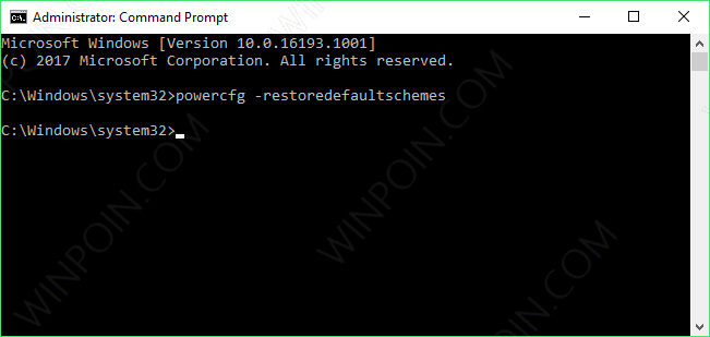 Cara Reset Power Plan di Windows 10