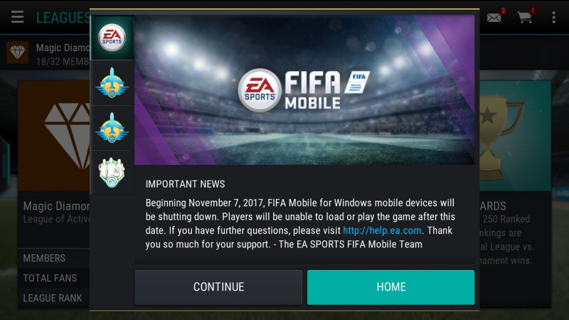 FIFA Mobile untuk Windows Phone Segera Dimatikan
