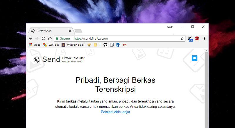 Kini Kamu Dapat Berbagi File Lebih Mudah dengan Send By FireFox