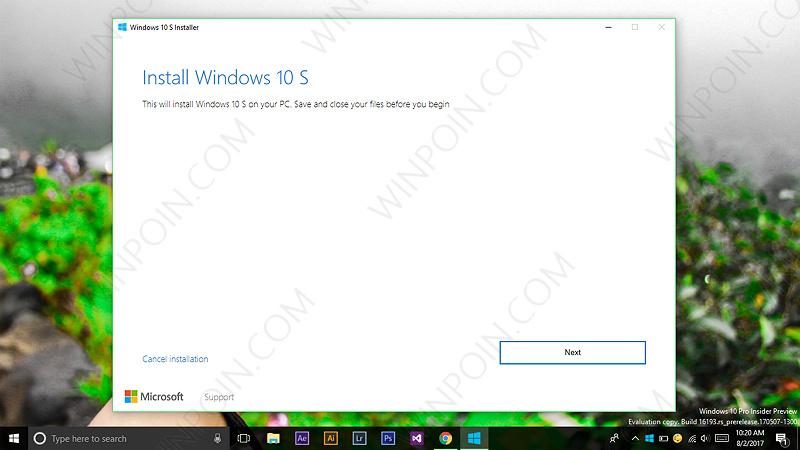 Sekarang Windows 10 S Dapat Di Install Secara Bebas (2)