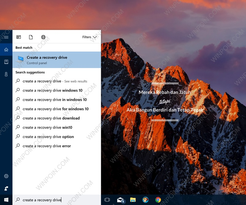 Membuat Sendiri Recovery Drive Windows 10 di USB Flashdisk