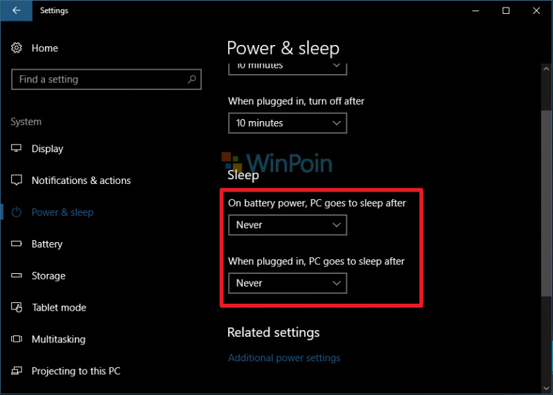 Mencegah Windows 10 Masuk ke Mode Sleep
