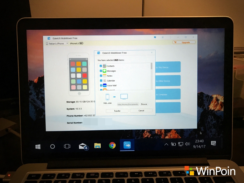 Transfer Data iPhone di Windows dengan EaseUS MobiMover Free 2.0 (Review)