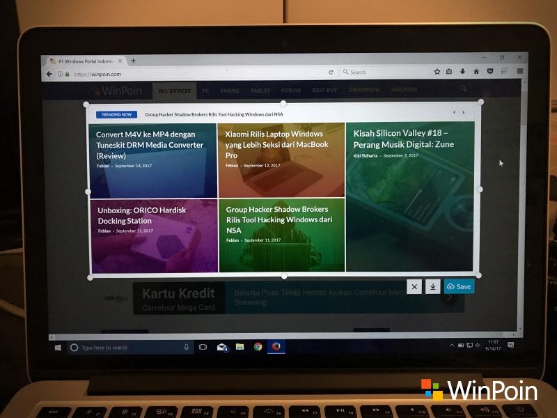 Cara Memunculkan Screenshot Tool Tersembunyi di Firefox (Review)