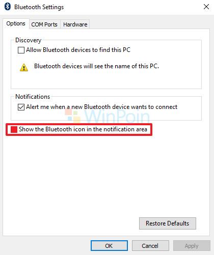 Cara Memunculkan Ikon Bluetooth yang Hilang di Windows 10