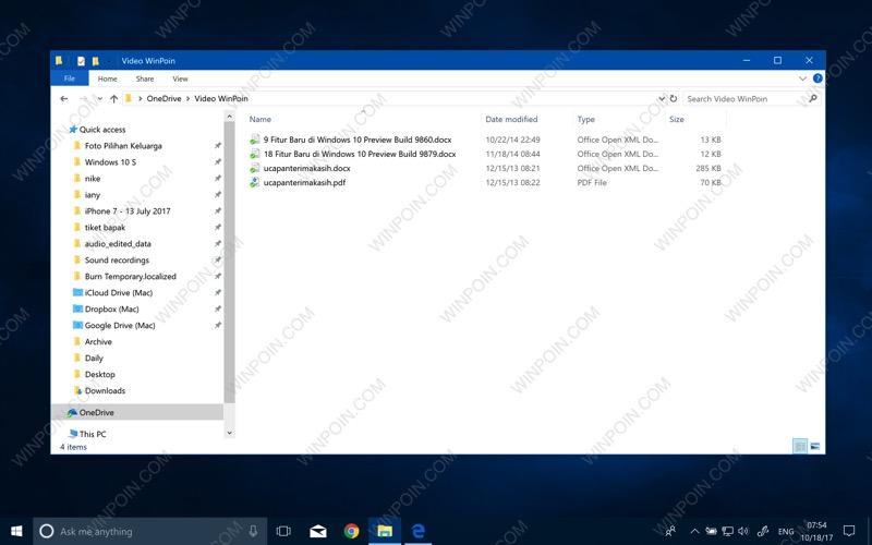 Daftar Fitur yang Belum Ada di Windows 10 Fall Creators Update