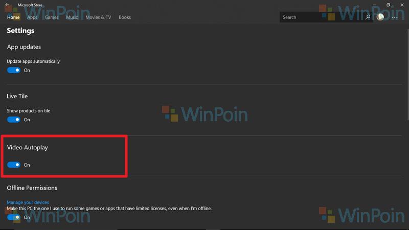 Mematikan Video Apps dan Games yang Diputar Secara Otomatis di Microsoft Store