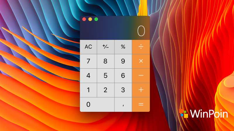Tampilan Calculator di macOS