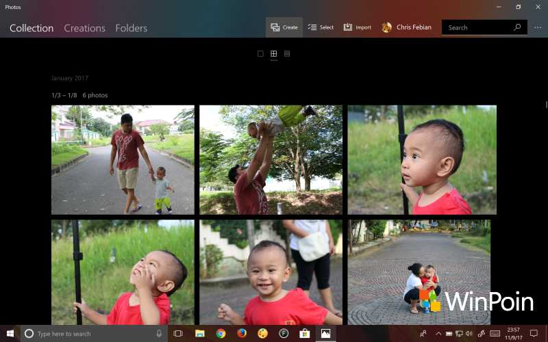 Tampilan Photos di Windows 10