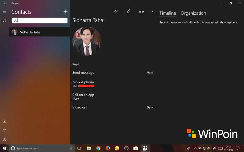 Tampilan People di Windows 10