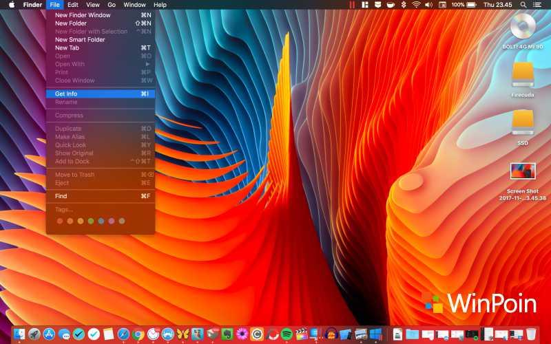 Tampilan Top bar macOS