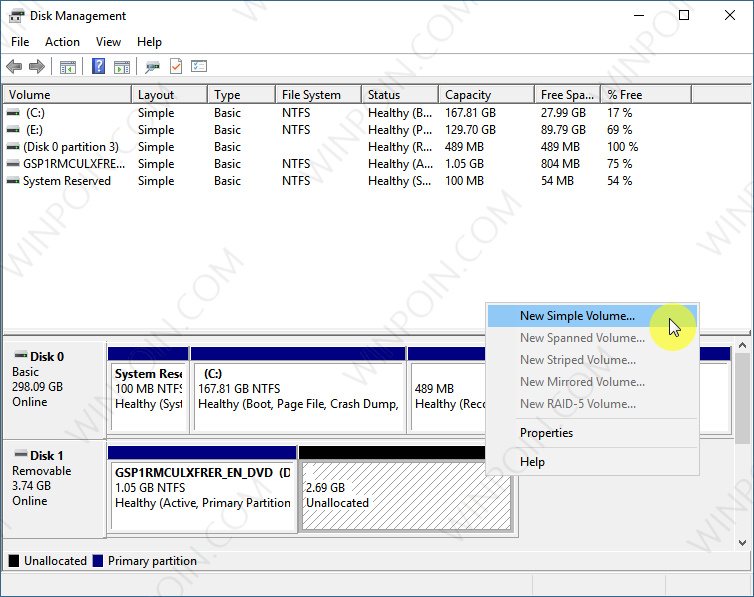 Cara Membuat Partisi pada Flashdisk di Windows 10 (3)