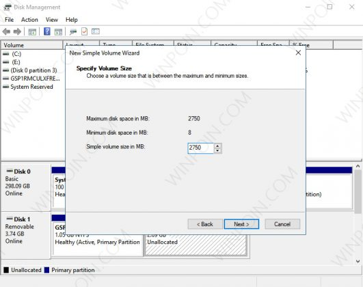 Cara Membuat Partisi pada Flashdisk di Windows 10 (4)
