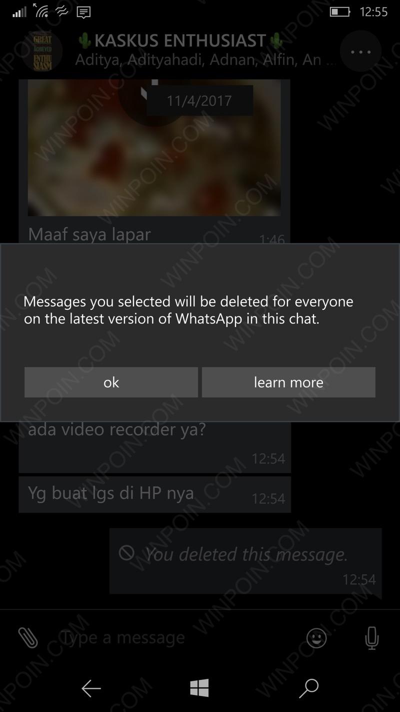 Cara Membatalkan Pesan WhatsApp yang Sudah Terkirim