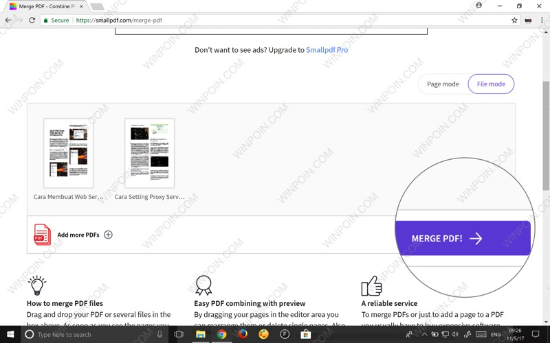 cara menggabung file pdf