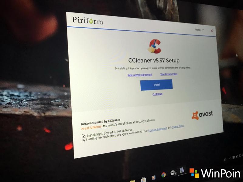 CCleaner Kini Bundling dengan Avast Antivirus