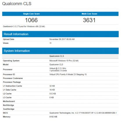Windows 10 ARM Mampir ke Geekbench — Performanya Kurang Mengesankan?