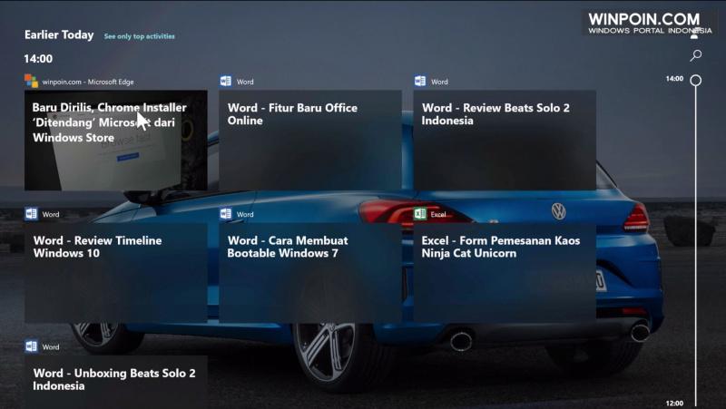 Mengintip Fitur Timeline di Windows 10 Redstone 4