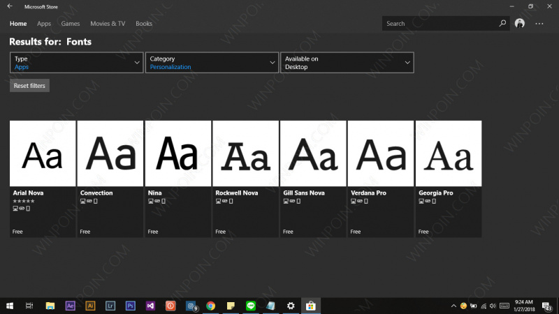 Cara Download Font dari Microsoft Store di Windows 10 (1)