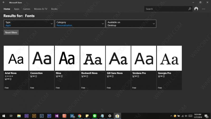 Cara Download Font dari Microsoft Store di Windows 10 (1)