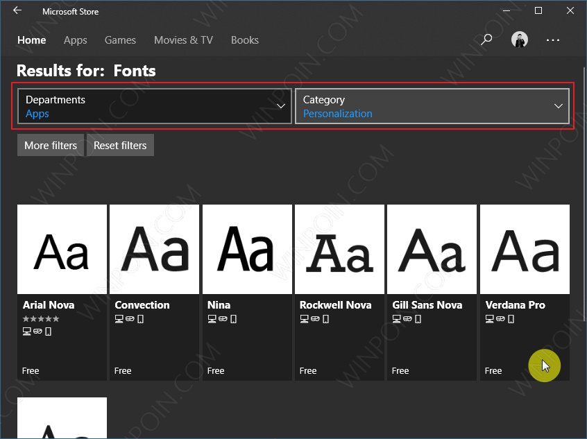 Cara Download Font dari Microsoft Store di Windows 10 (3)