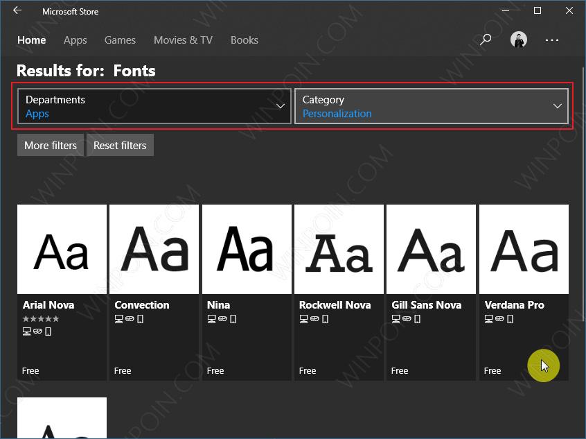 Cara Download Font dari Microsoft Store di Windows 10 (3)