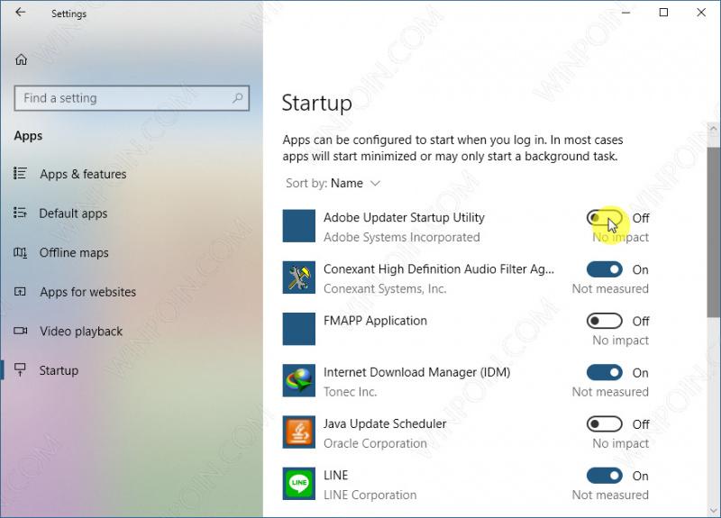 Cara Mematikan Aplikasi Startup di Windows 10 Melalui Settings (2)